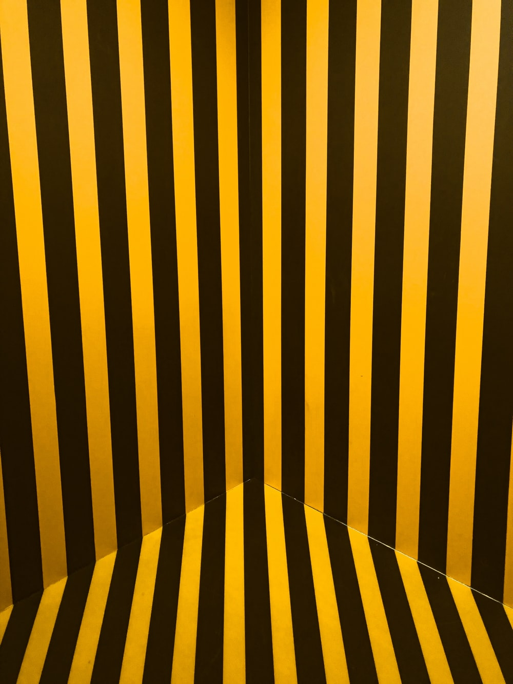 black and yellow striped cover