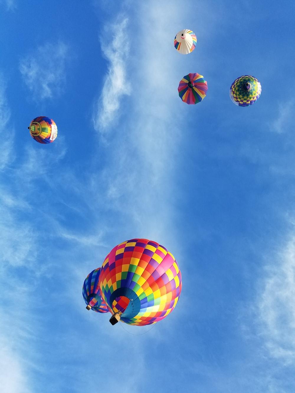 close-up photography of hot hair balloons