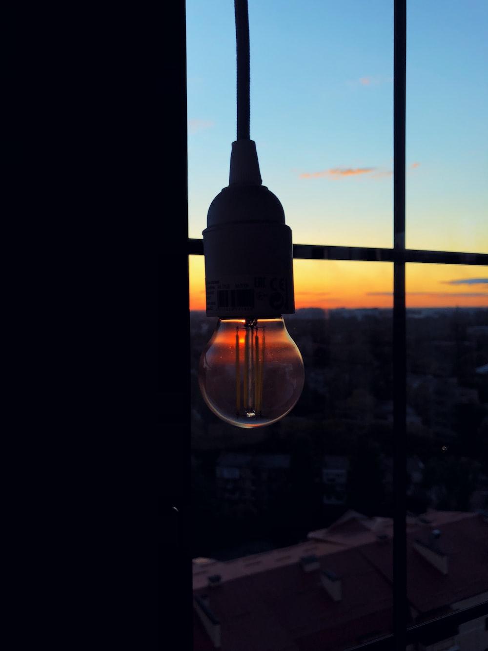 turned-off lamp