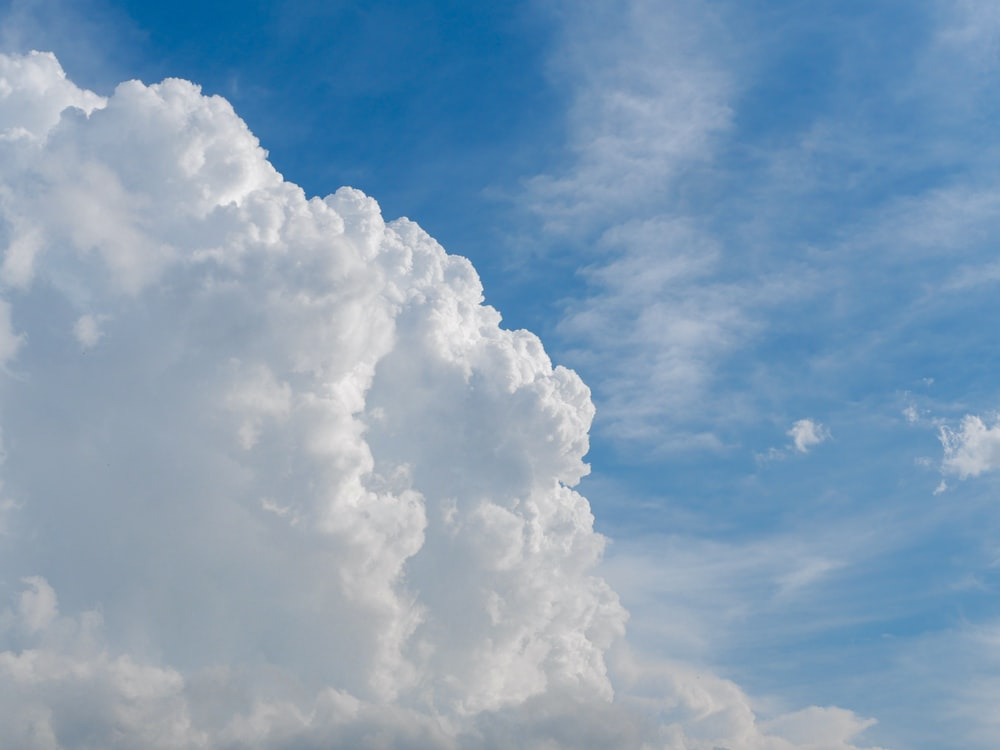 white and blue cloudy skies during daytime