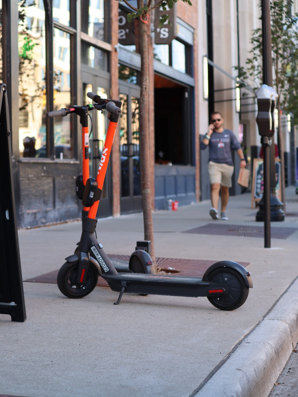 scooter near building