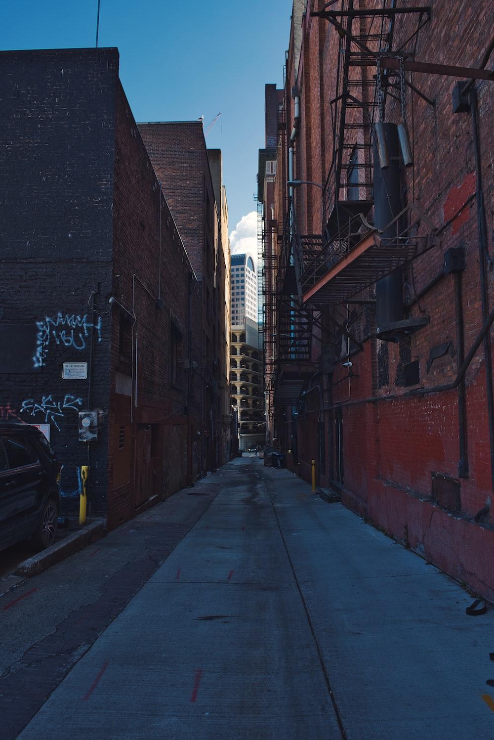 empty building alleys