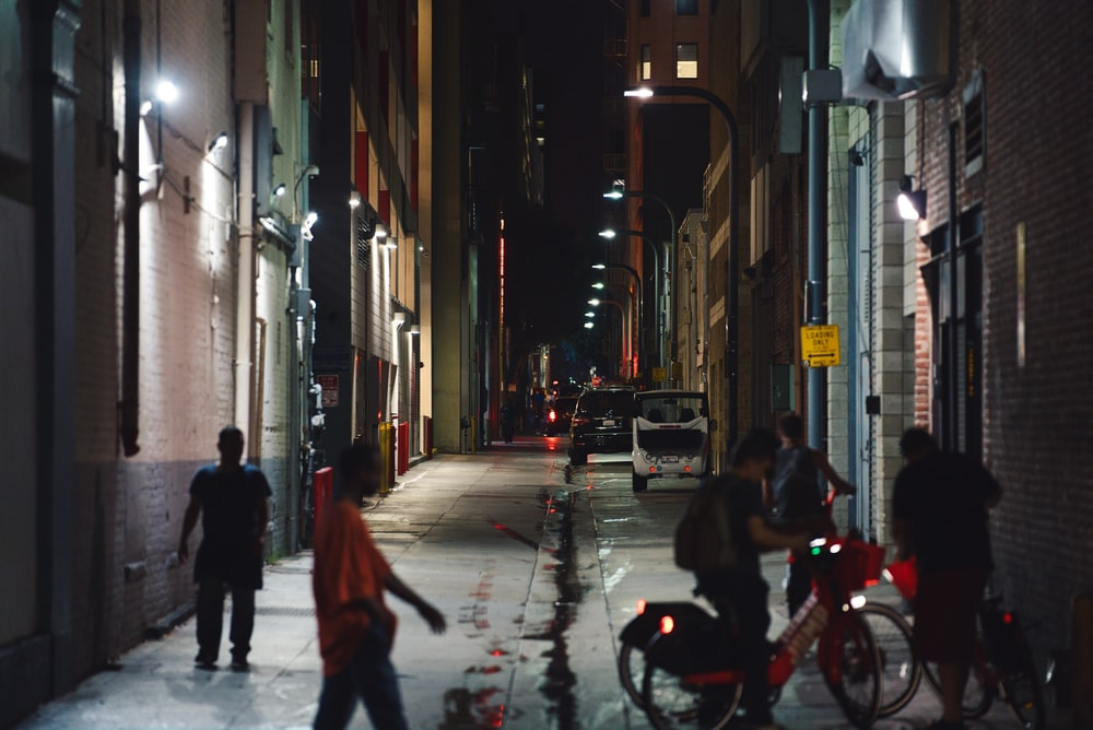 group of people on street during nighttime