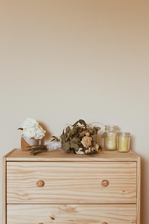 brown wooden drawer dresser