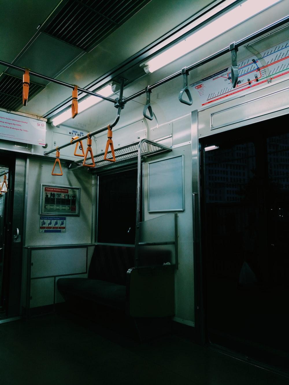 empty train cabin
