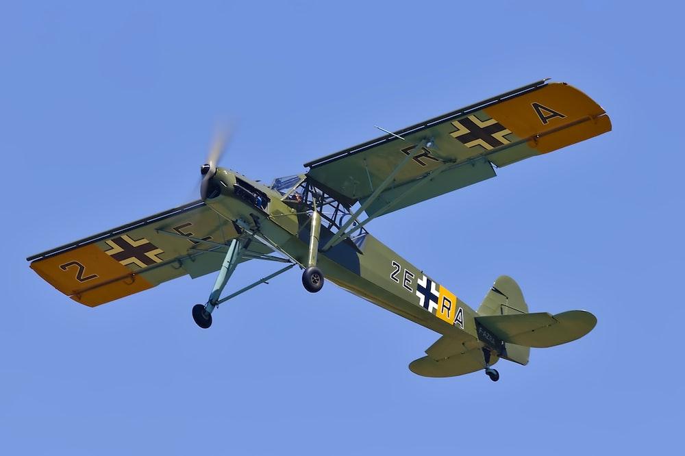 gray and orange monoplane