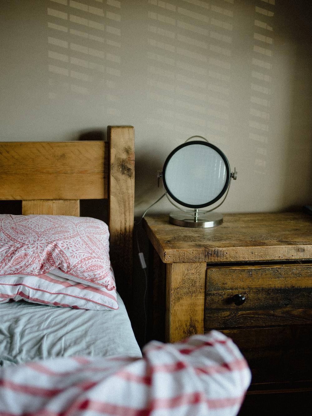 table lamp on nightstand
