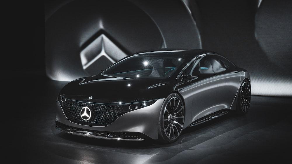 black Mercedes-Benz concept car