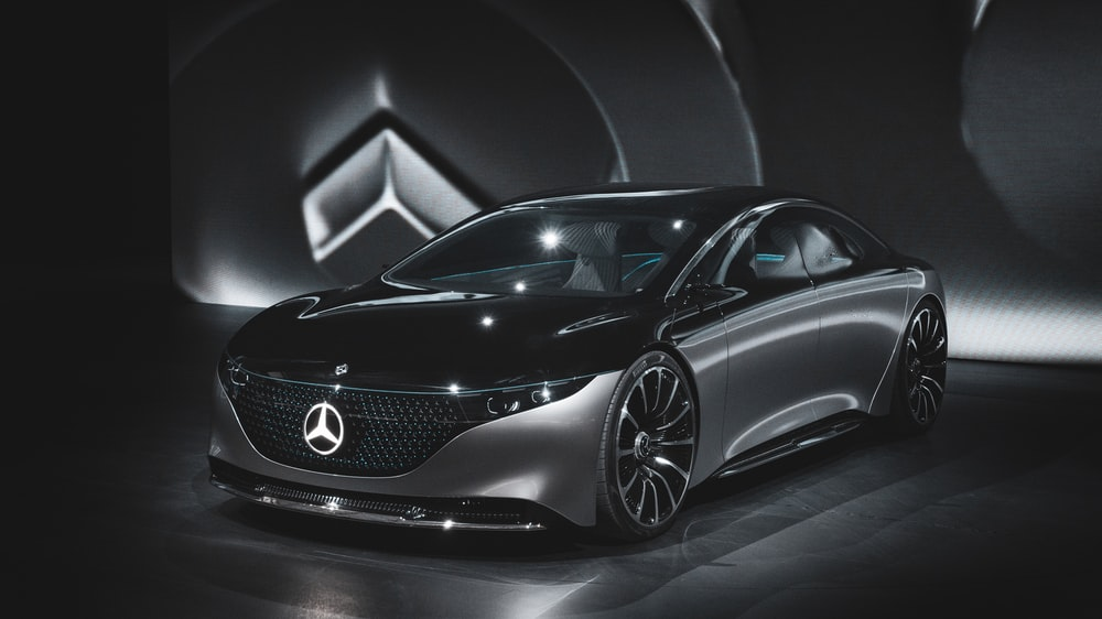 black Mercedes-Benz concept car