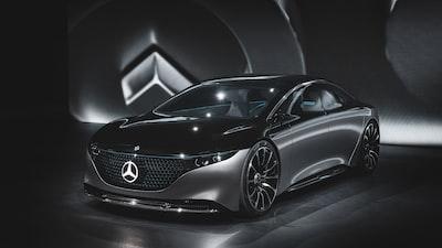 black mercedes-benz concept car automobile zoom background