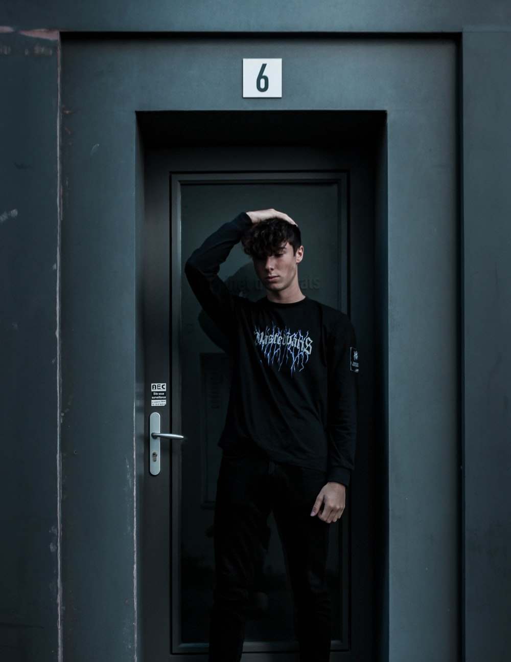 man standing near the door