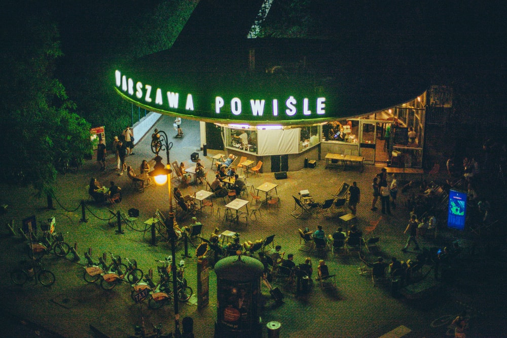 people gathering in event during night time