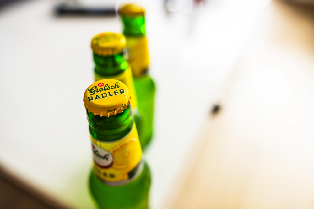 Radler beer bottle
