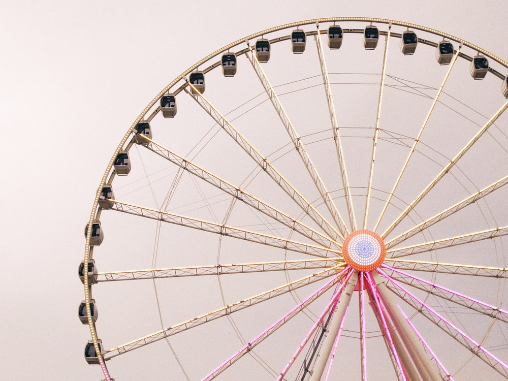 photo of white and brown Ferris Wheel