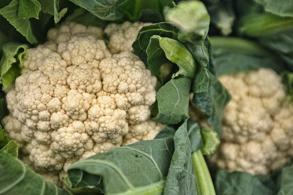 white cauliflowers