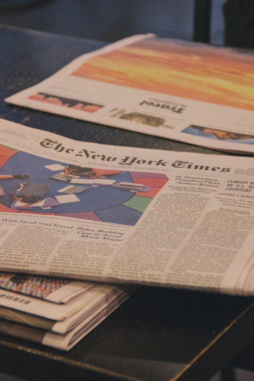 white newspaper