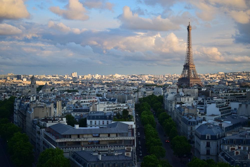 aerial photo of Eiffel tower
