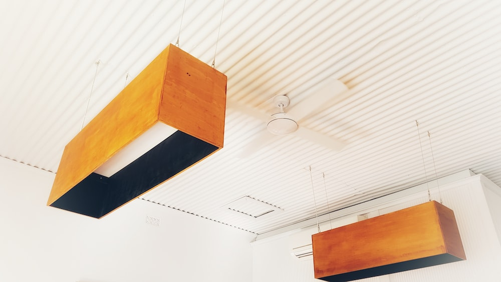 two rectangular ceiling lights