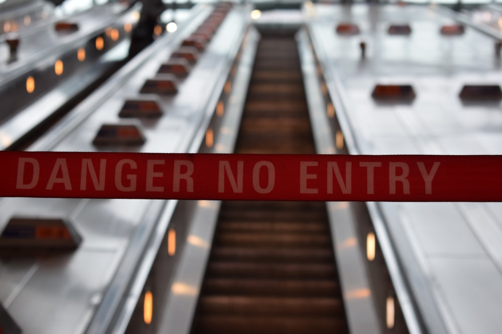 danger no entry sign