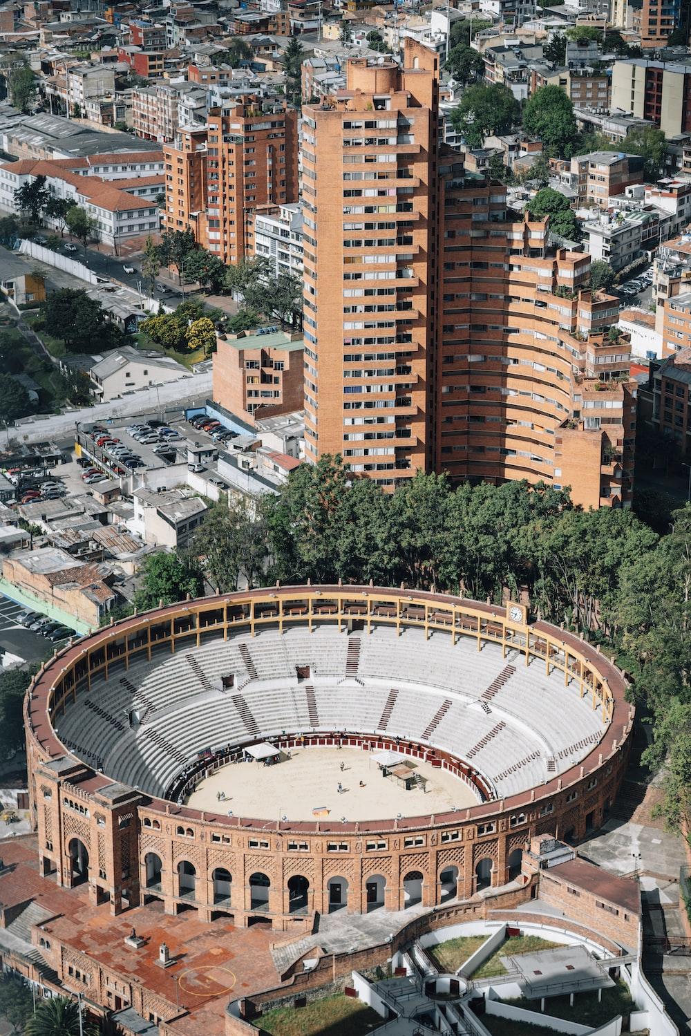 aerial-photography of stadium