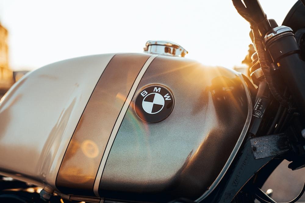brown BMW motorcycle