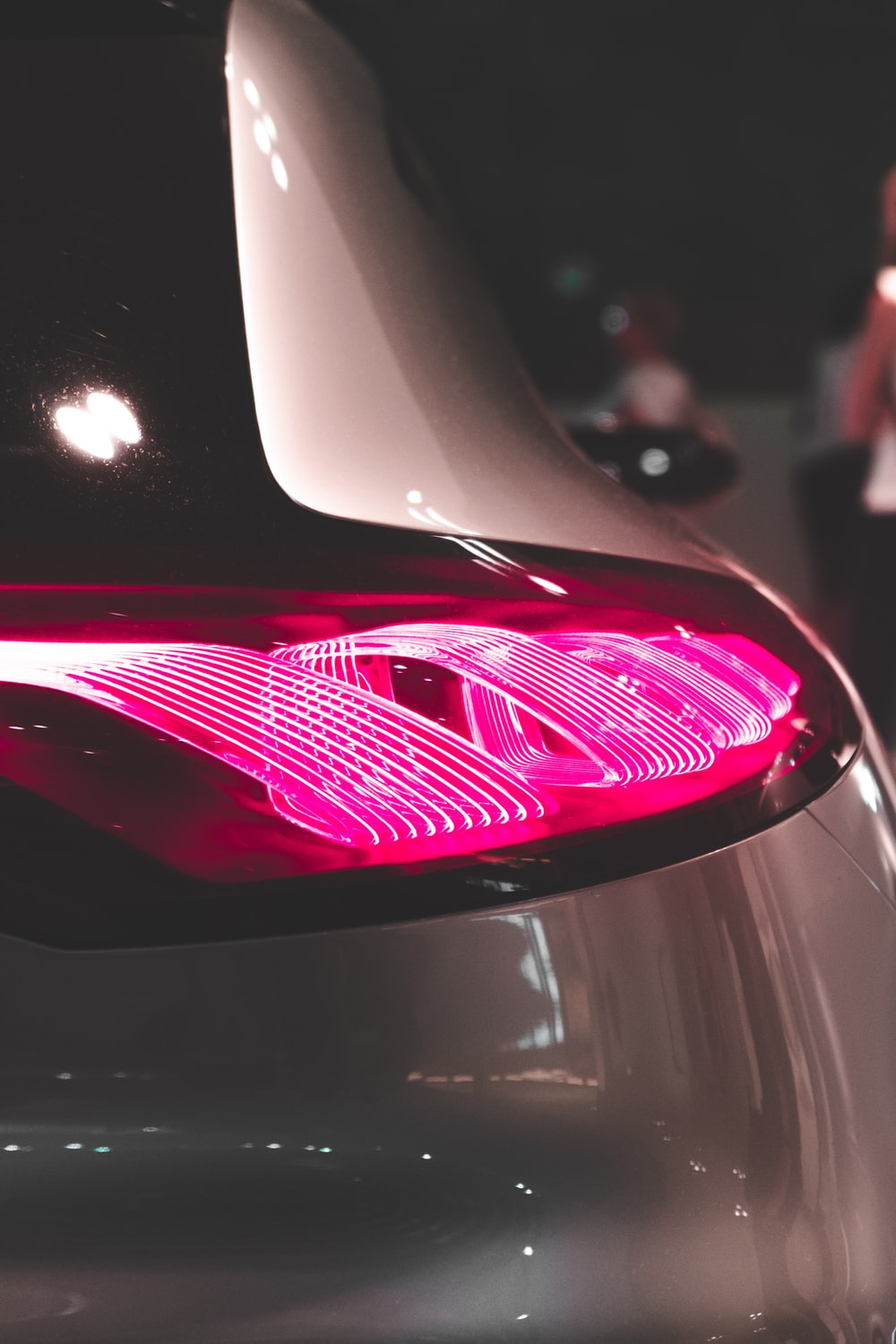 macro photography of vehicle taillight