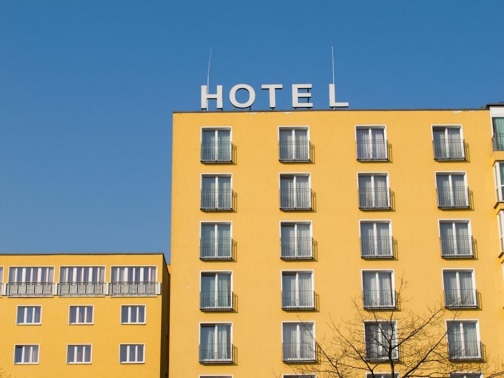 yellow Hotel building