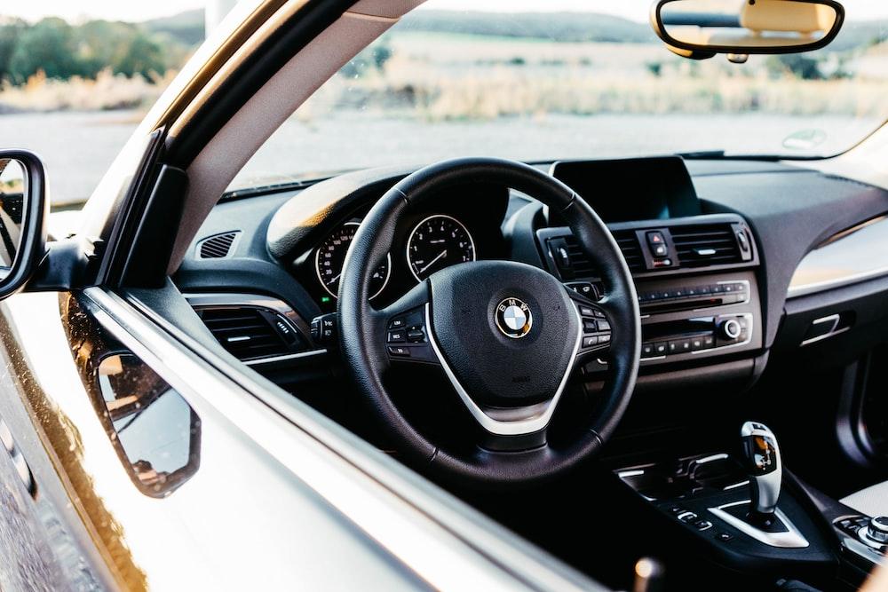 empty black BMW vehicle