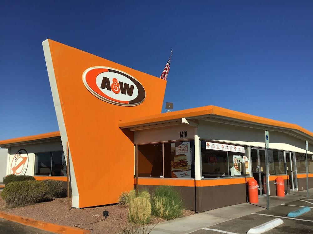 orange A&W building