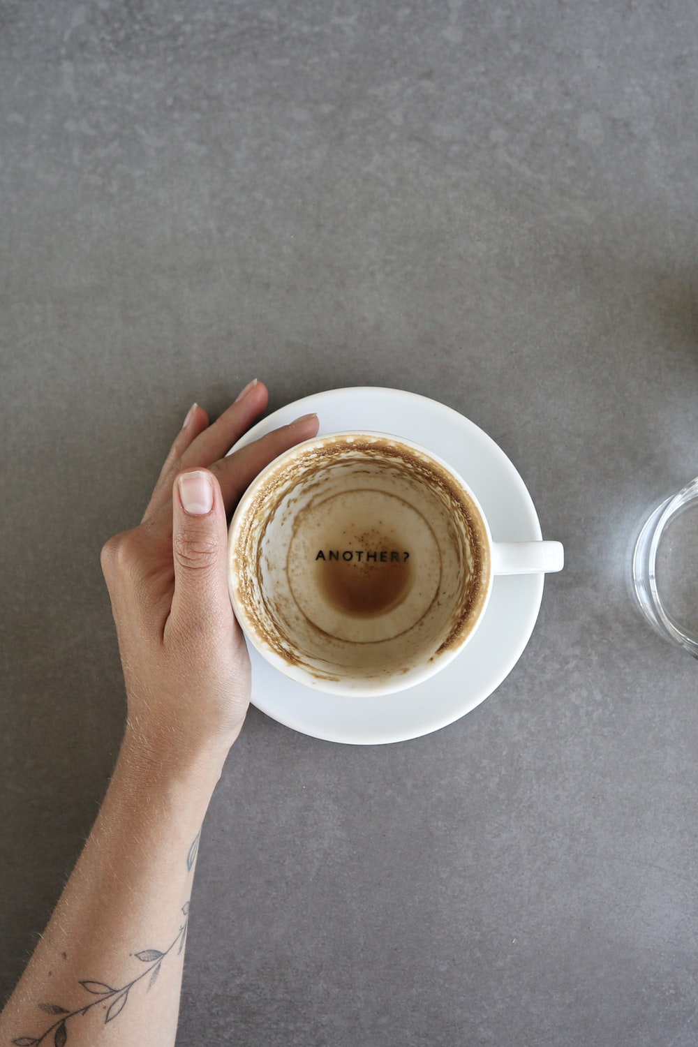 empty cup on saucer