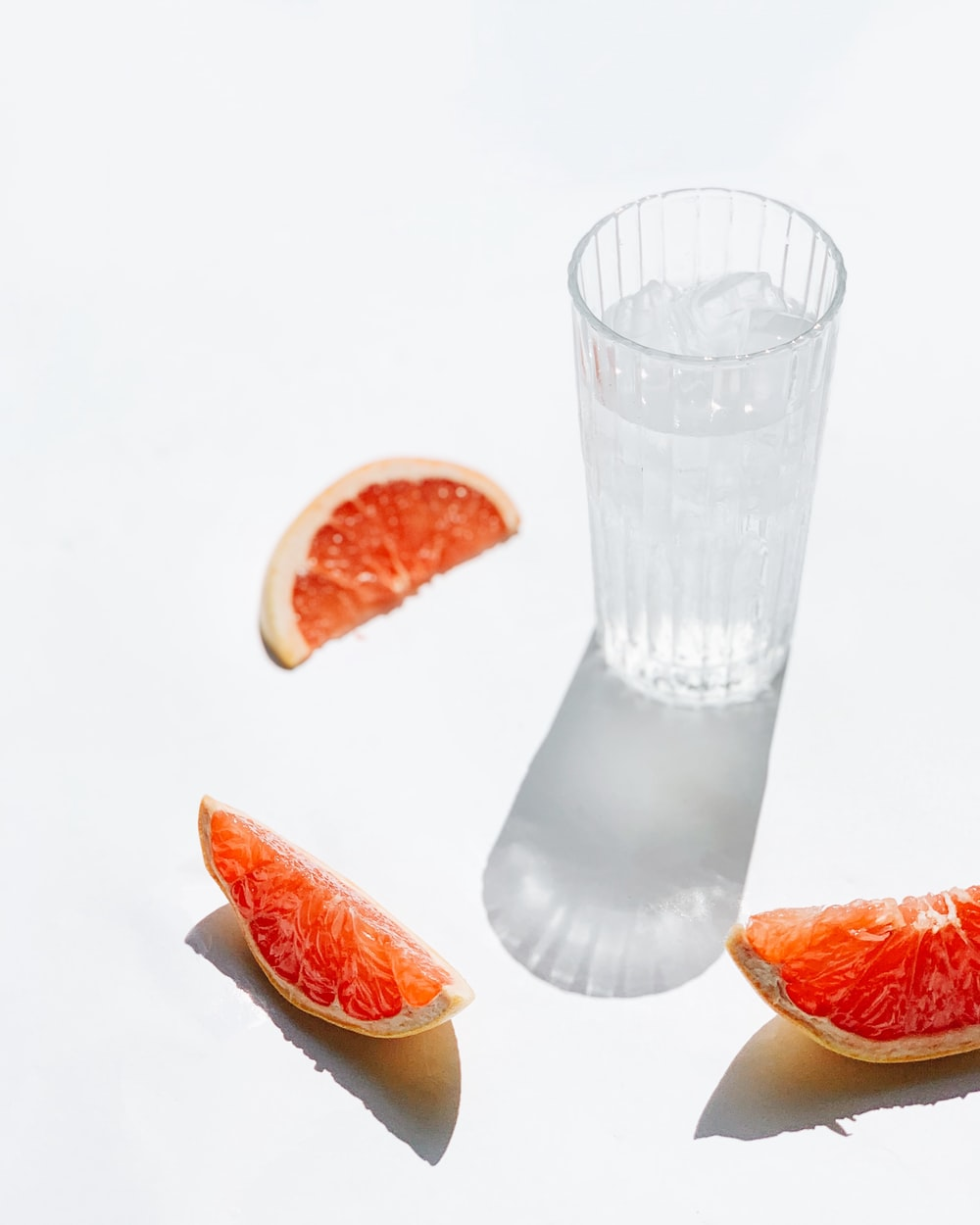 clear glass drinking cup