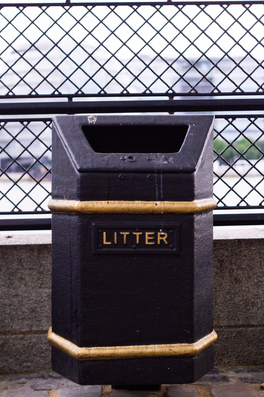 black litter box