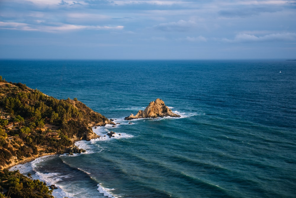 coastal stack during daytime