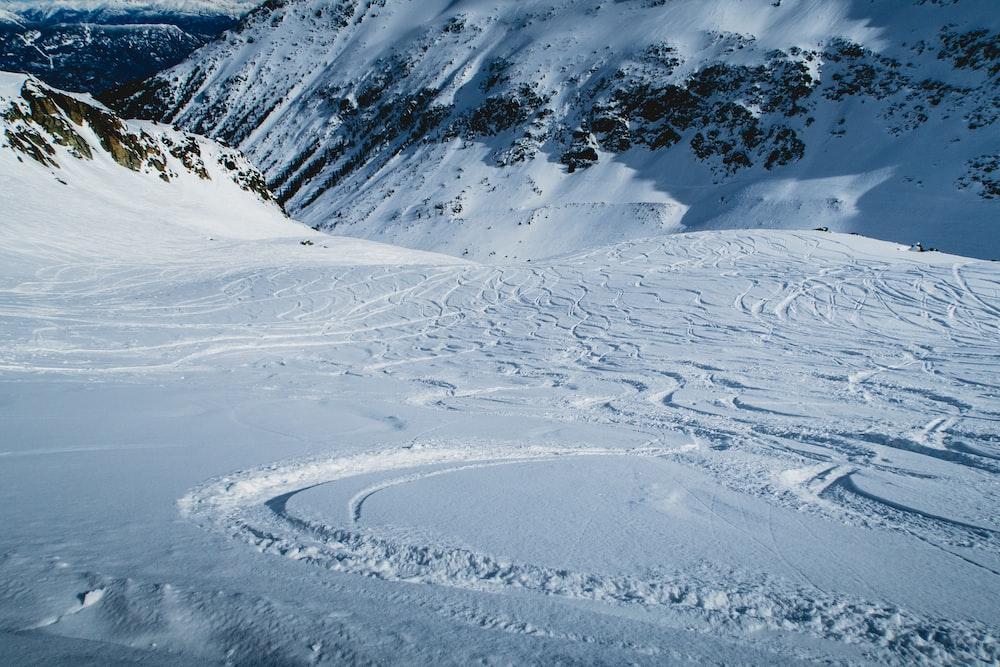 snow field at daytime
