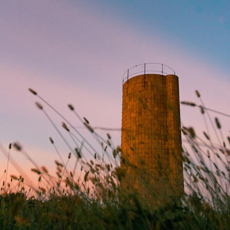 gray bricks tower