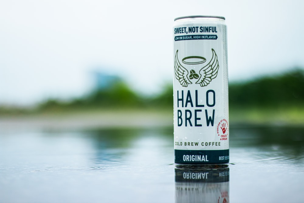 Halo Brew coffee can