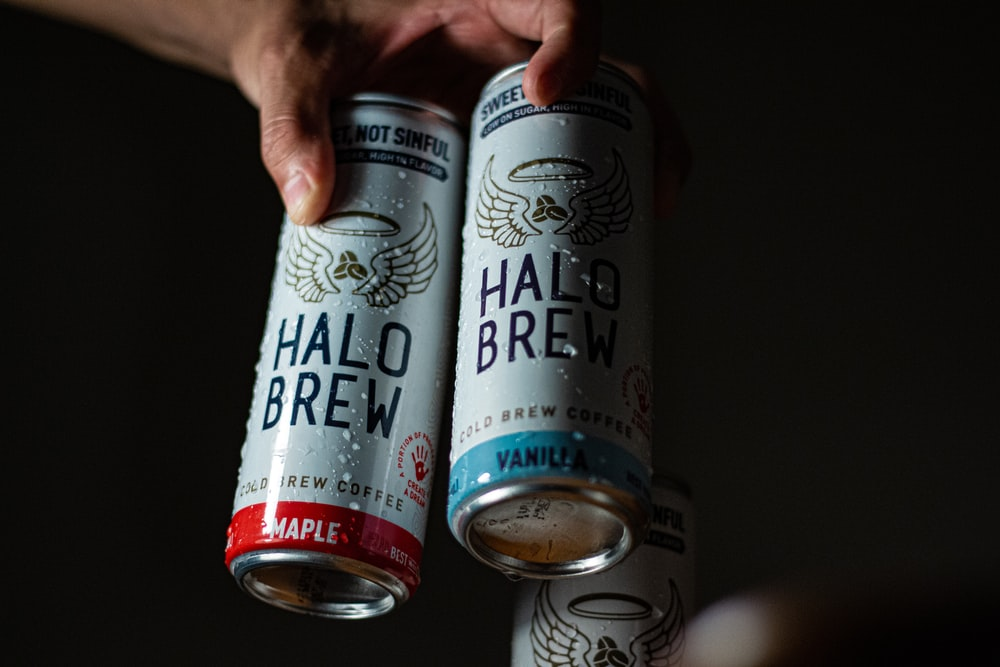 two Halo Brew cans