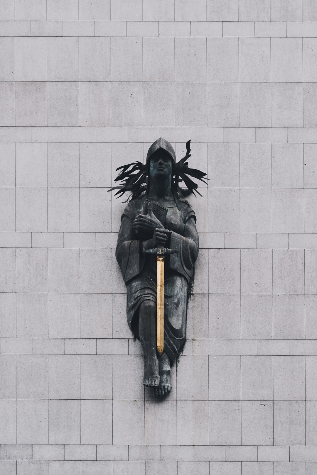 Law statue with sword