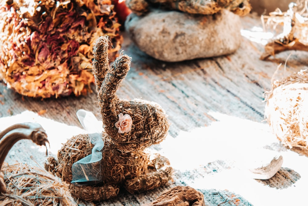 brown bunny figurine