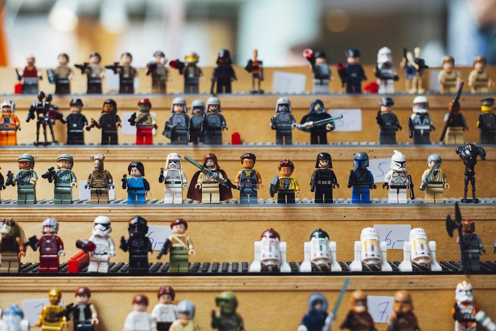 LEGO minifigure lot macro photography