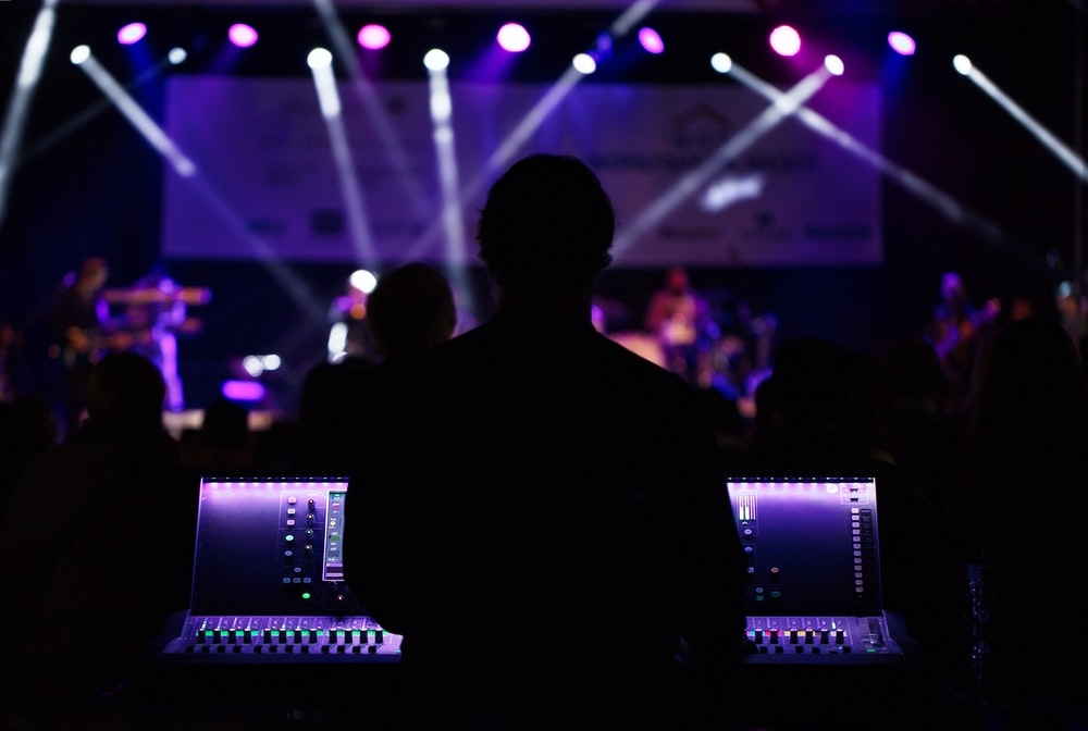 man watching concert photography