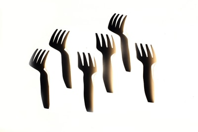 six black fork illustration