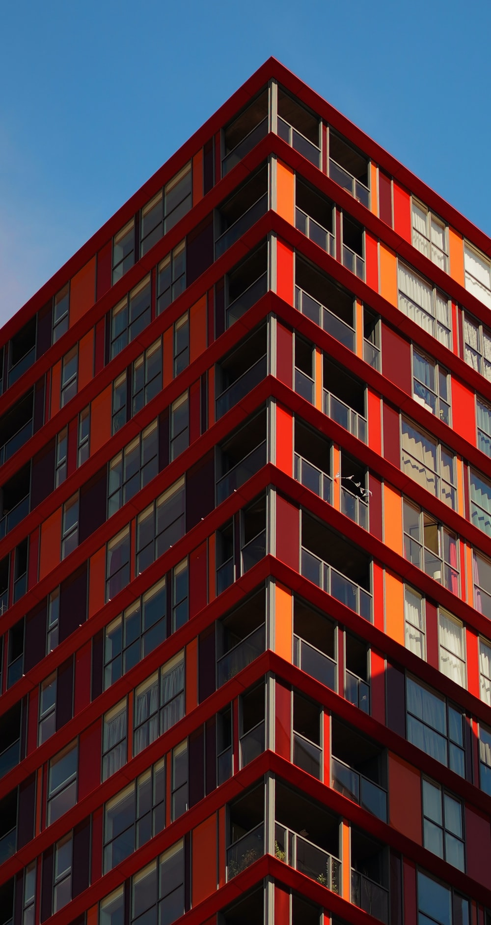 red and black building