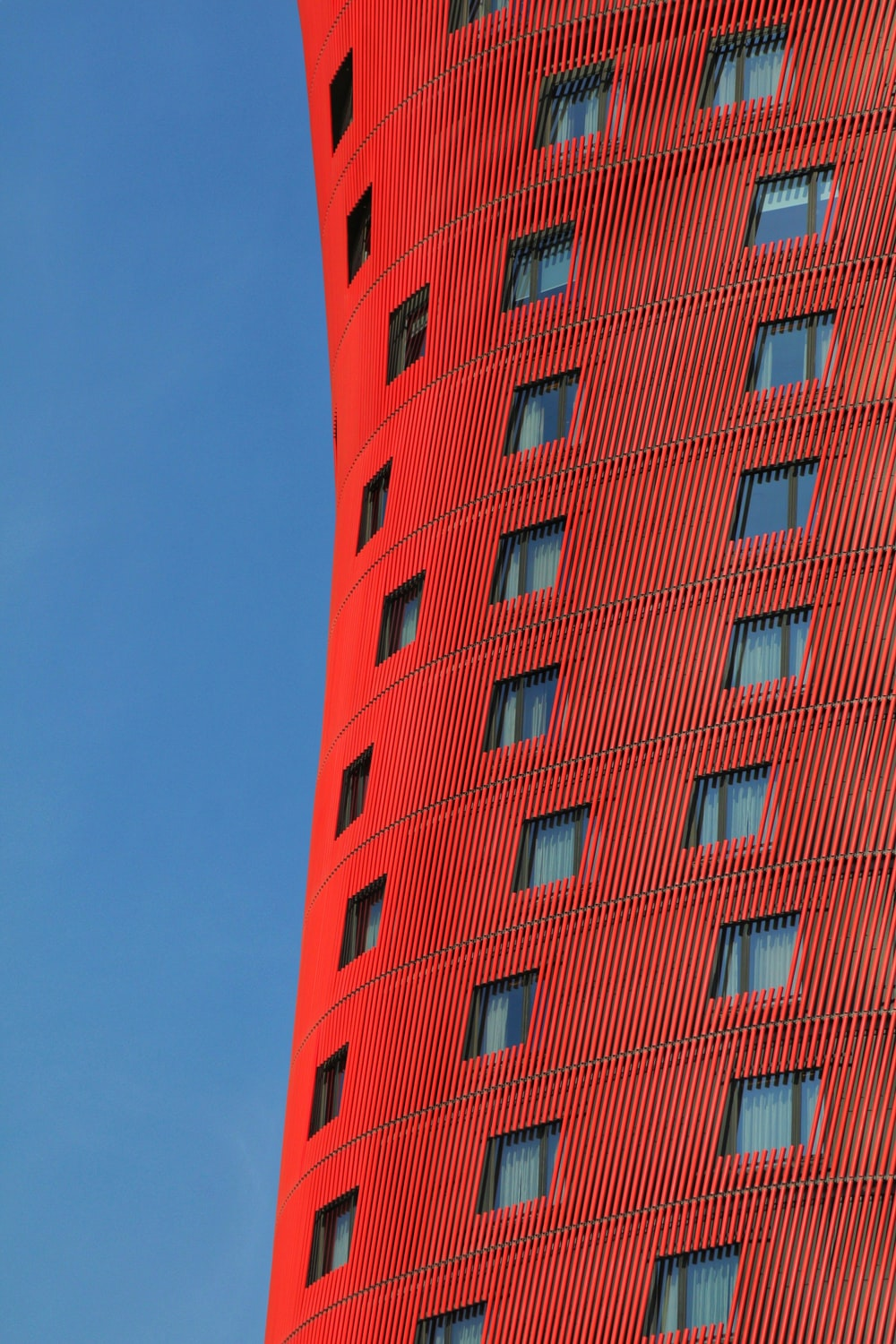red building during day
