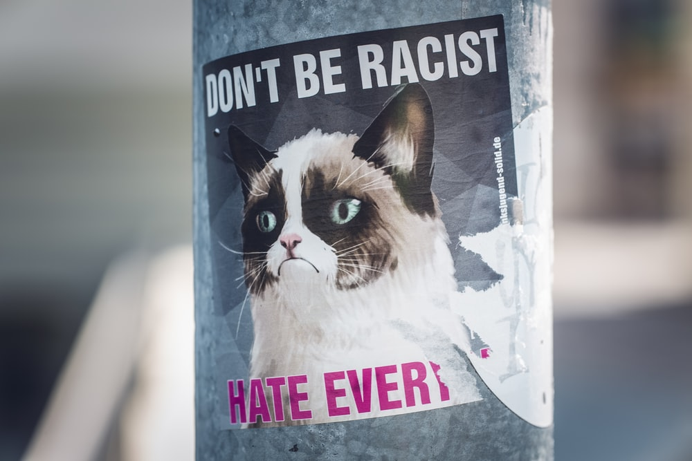 Don't Be Racist poster