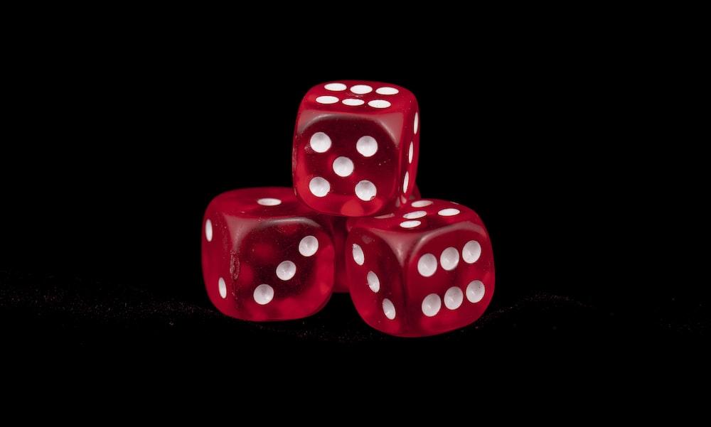 three red dice
