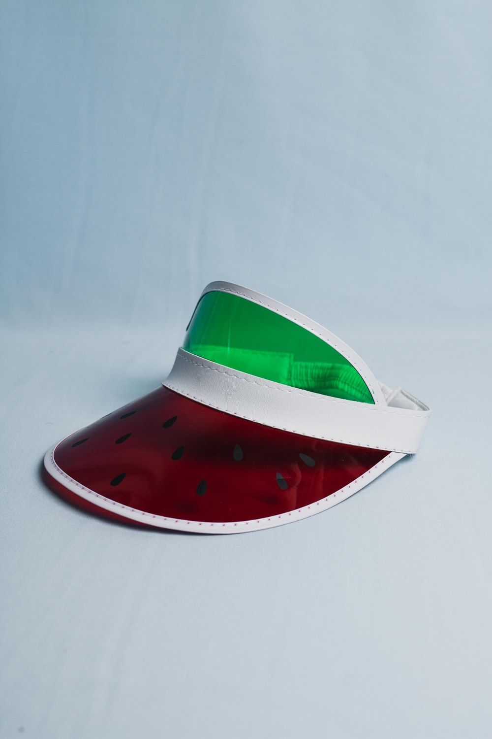 red and green watermelon print hat
