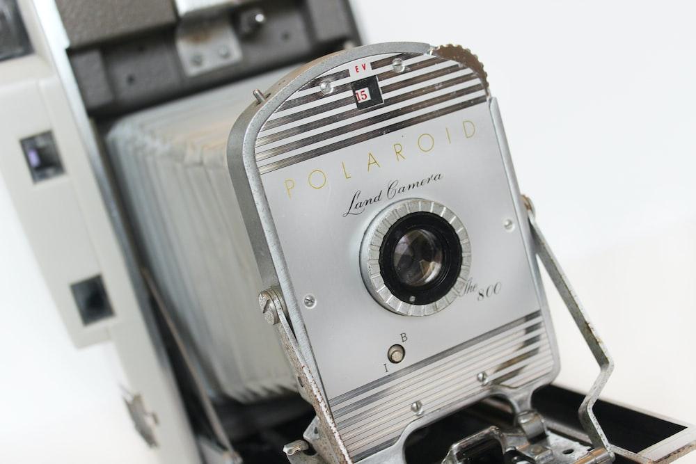 gray and black Polaroid land camera