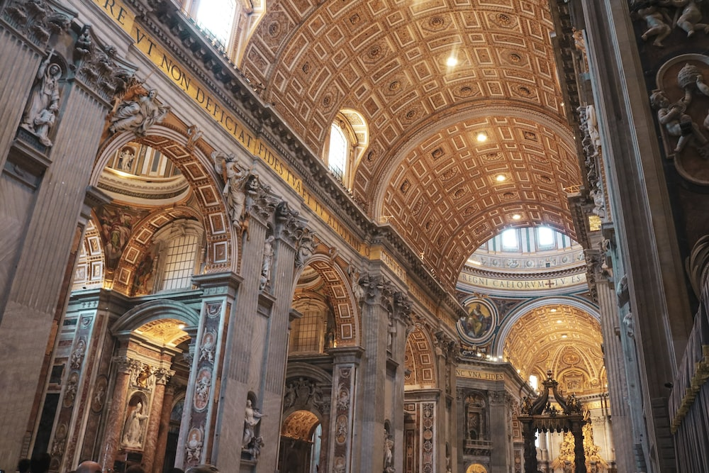 gold and white cathedral interior