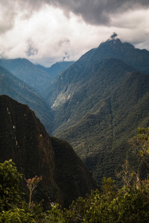 green mountains at daytime